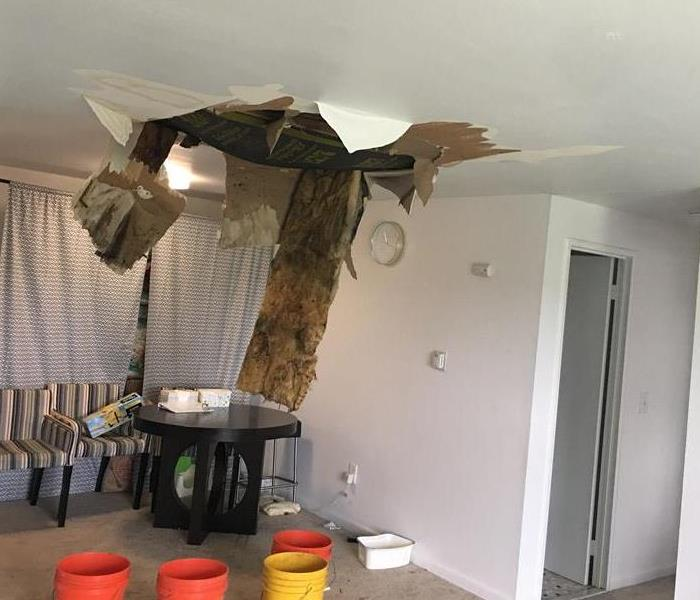 Ceiling after Water Damage in MA
