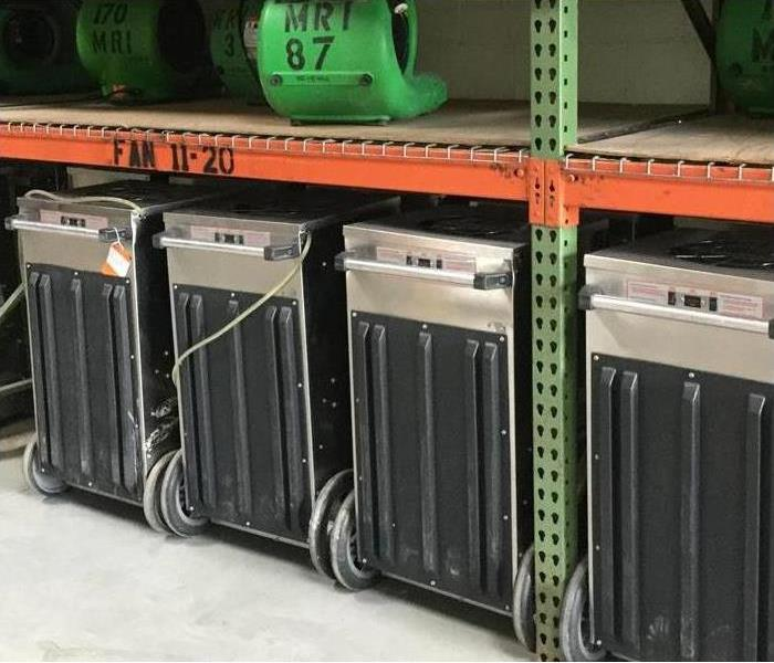 Four dehumidifiers- Drying equipment
